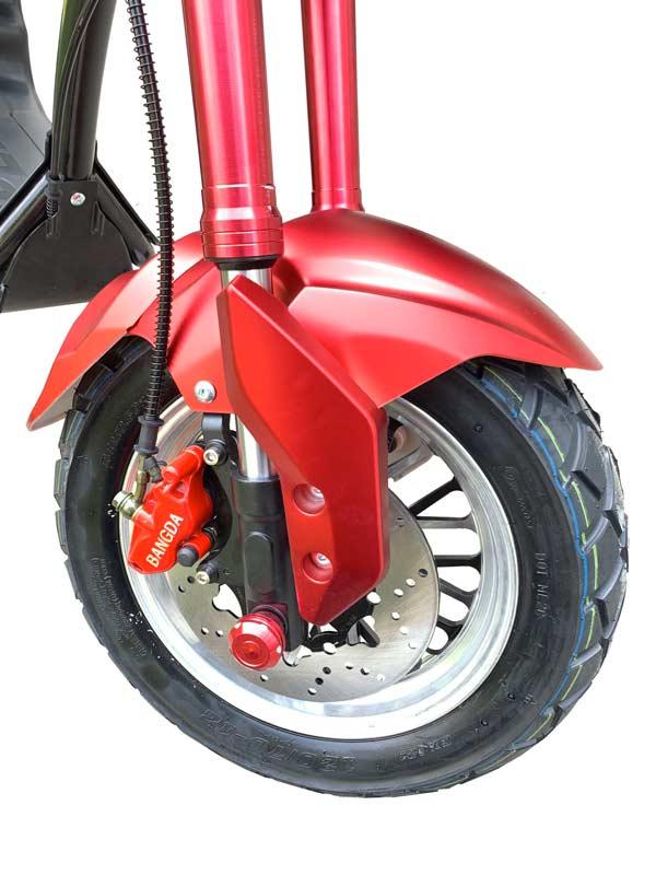 biker vorderrad rot